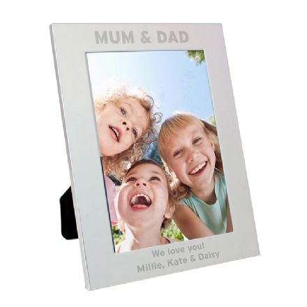 Personalised Silver 5x7 Mum & Dad Frame